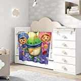 Keiou Team Umizoomi Cute Fluffy Baby Blanket Soft Warm Cozy Coral Fleece Toddler, Infant Or Newborn Receiving Blanket for Crib, Stroller