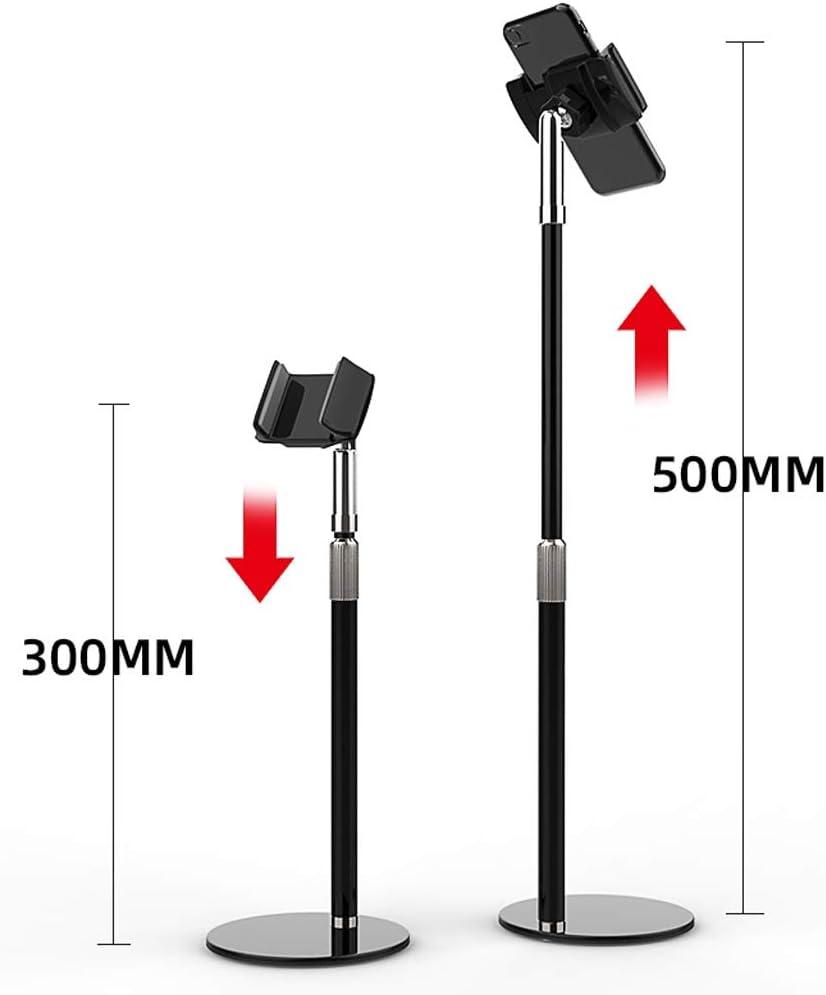 Color : Black Desktop Phone Holder Mobile Phone Tablet Desktop Lazy Bracket Multifunction support 81 ZLZ