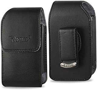 Vertical Leather Case with Magnetic Closure and Belt Clip on the Back for Samsung Rugby III, Rugby 3.