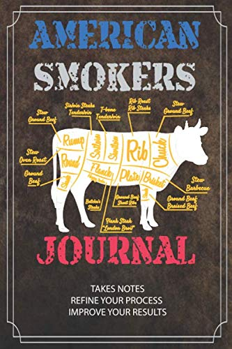 AMERICAN SMOKERS JOURNAL: Barbecue Pitmaster Logbook - Rubs, Seasonings, Smoking and Grilling the Perfect Meat and Fish, BBQ smoker recipe and notes ... Barbecue Lover, gifts for Dad Son or Uncle