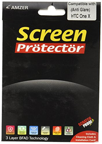 Amzer AMZ93839 Anti Glare Screen Protector with Cleaning Cloth for HTC One X