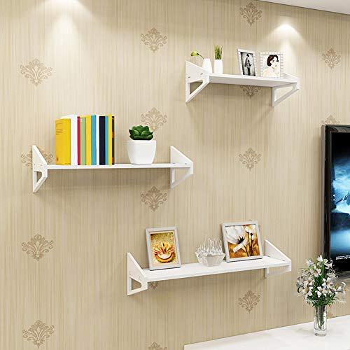 Oumefar Estante de pared 1 juego de 3 tallados para decoración del hogar, cuarto de bebé, cocina, sala de estar, dormitorio