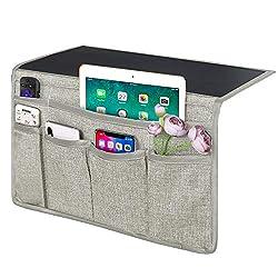 slim, modern bed organizing pocket