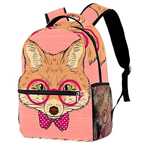 Kindergarten Kids Zaino Scuola Primaria Bookbag Moda Ragazzi Casual Daypack Carino Hipster Fox