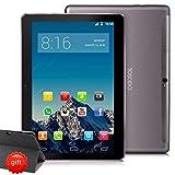 4G LTE Tablette Tactile 10 Pouces 1920*1200 IPS HD -TOSCIDO Android 9.0 Certifié par Google GMS,6Go RAM,128Go ROM,Octa Core 2GHz CPU Haute Vitesse,Doule Sim,WiFi,Double Haut-Parleur Stéréo - Gris