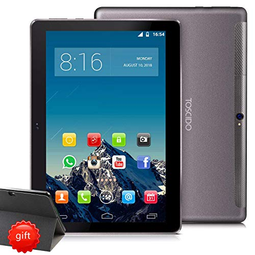 tablet android 6 TOSCIDO 4G LTE Tablet 10 Pollici 1920*1200 IPS HD - Android 9.0 Certificato da Google GMS
