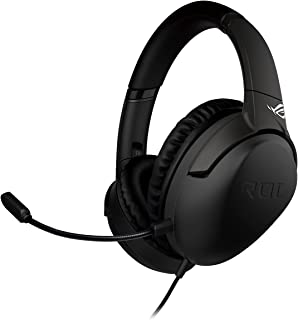 ASUS ROG Strix Go Gaming Headphones with USB C Adapter, Ai Powered Noise Cancelling Microphone, Over Ear Headphones for P...