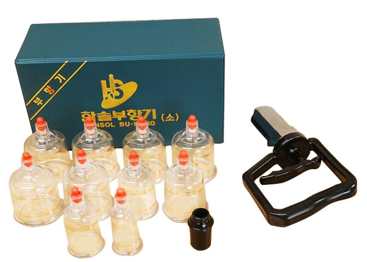 ねじれ効果的マンモス中国四千年の健康法「吸玉」がご家庭で手軽にできる!ハンソルメディカル ブハン カッピングカップ10個セット