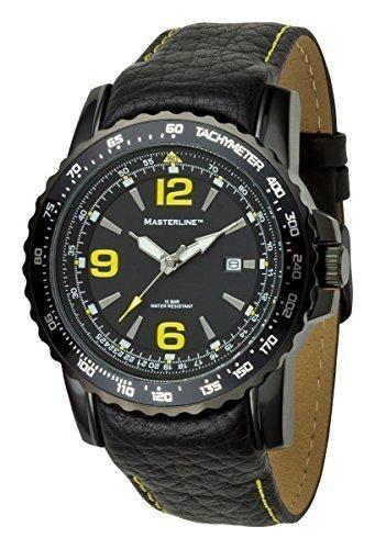 Masterline ML06139003–Armbanduhr Herren, Lederband schwarz
