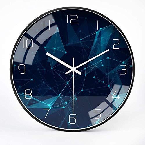 Reloj de pared redondo para sala de estar, reloj de pared de diseño moderno con personalidad para el hogar, cocina, comedor, sala de estar (tamaño: 35,56 a 35,56 cm)
