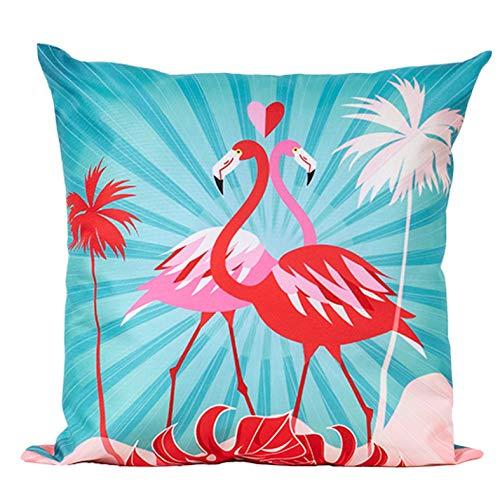 Home Edition Outdoor Kissen, wasserabweisend, 45 x 45 cm, Summer Flamingo
