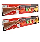 19' Pump Action Long Barrel Shotgun Soft Dart Shooter Rifle Toy Gun with Target Ducklings Assorted Styles (Gift idea Item) 2-Pack Deal