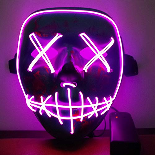 URMAGIC Halloween Maske LED Light EL Wire Cosplay Maske Purge Mask für Festival Cosplay Halloween Kostüm