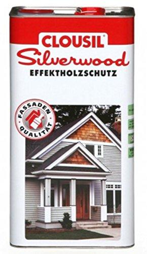 CLOUsil Silberlook Effektholzschutz edelgrau hell 5,0 L