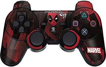 Skinit Decal Gaming Skin for PS3 Dual Shock Wireless Controller - Officially Licensed Marvel/Disney Deadpool Howl Design