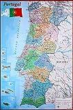 Close Up Mapa de Portugal Poster Karte von Portugal (61cm x