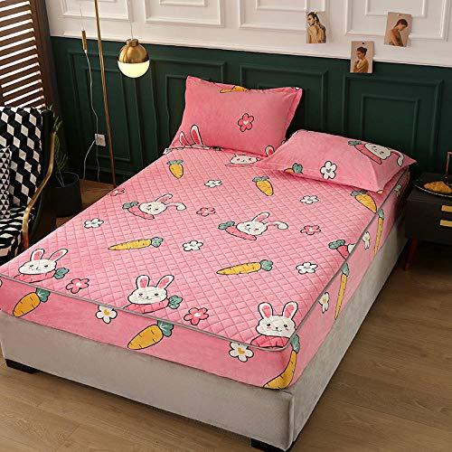 CYYyang Unterbett Soft-Matratzen-Topper, Matratzenschutz Boxspring-Betten geeignet Einfache staubdichte Bettdecke aus Samt-Bettlaken-12_200 * 220cm
