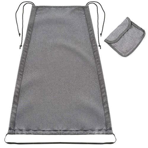 Toldo universal para cochecito, protección solar para cochecito, con revestimiento de protección UV 50+, resistente al agua, toldo para cochecito y silla de paseo con bolsa (gris claro)