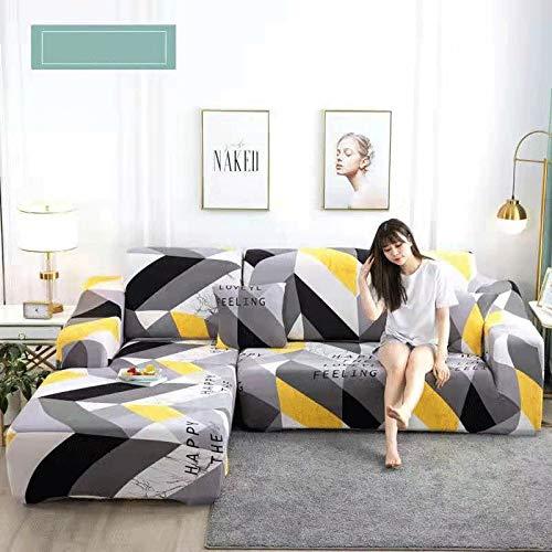 QQWW Funda De Sofa Elastica Adaptable 1.2.3.4plazas Funda para Sofá Sofa Cover Chaise Longue ImpresióN Cubierta para Sofá ,Si Su Sofá Tiene Forma De L, Compre Dos (Color : L, Size : 1PCS (90-140CM))