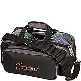 Hammer Premium Double Tote Bowling Bag, Black/Carbon