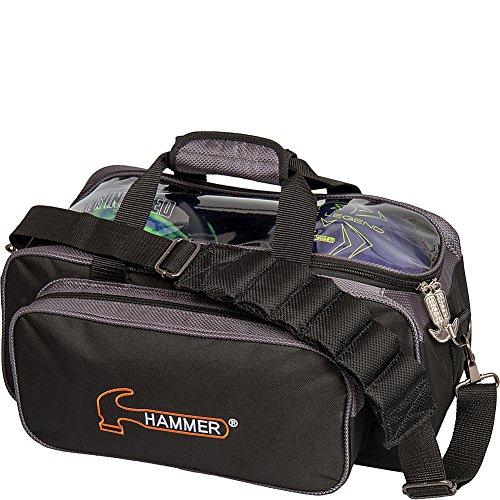 HAMMER Premium Double Tote Bowling Bag, H902-50, Black/Carbon, Einheitsgröße