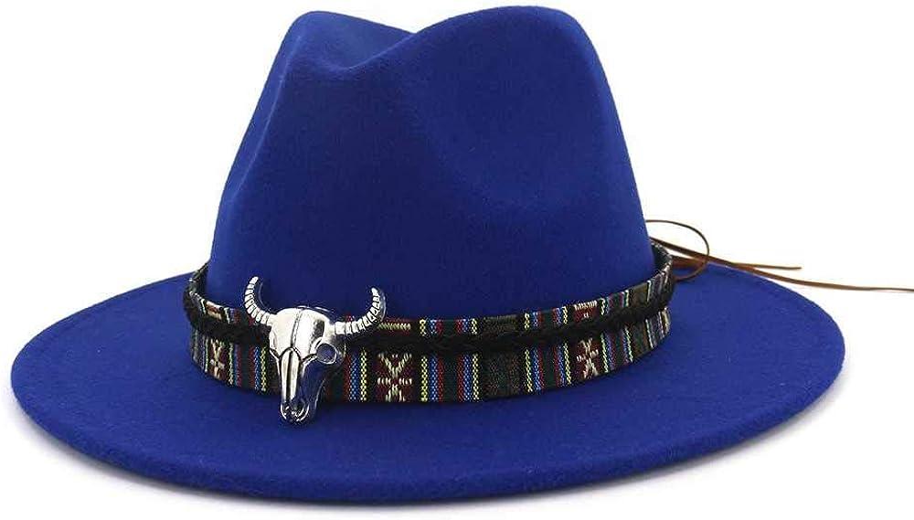 Casiz Hat, Hats for Women Men Wool Hollow Western Cowboy Hats