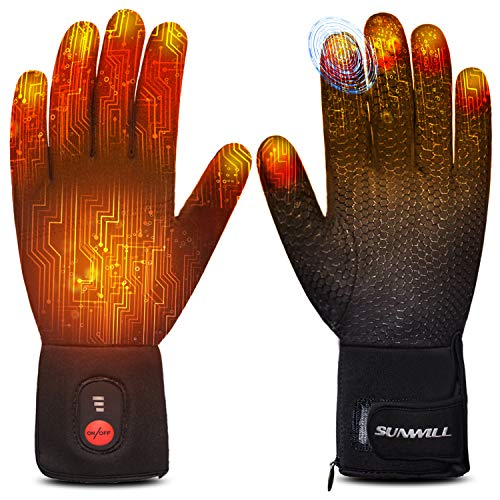 Heated Glove Liners for Men Women,Rechargeable Electric Battery Heating Riding Ski Snowboarding Hiking Cycling Hunting Thin Gloves Hand Warmer Arthritis&Raynaud's