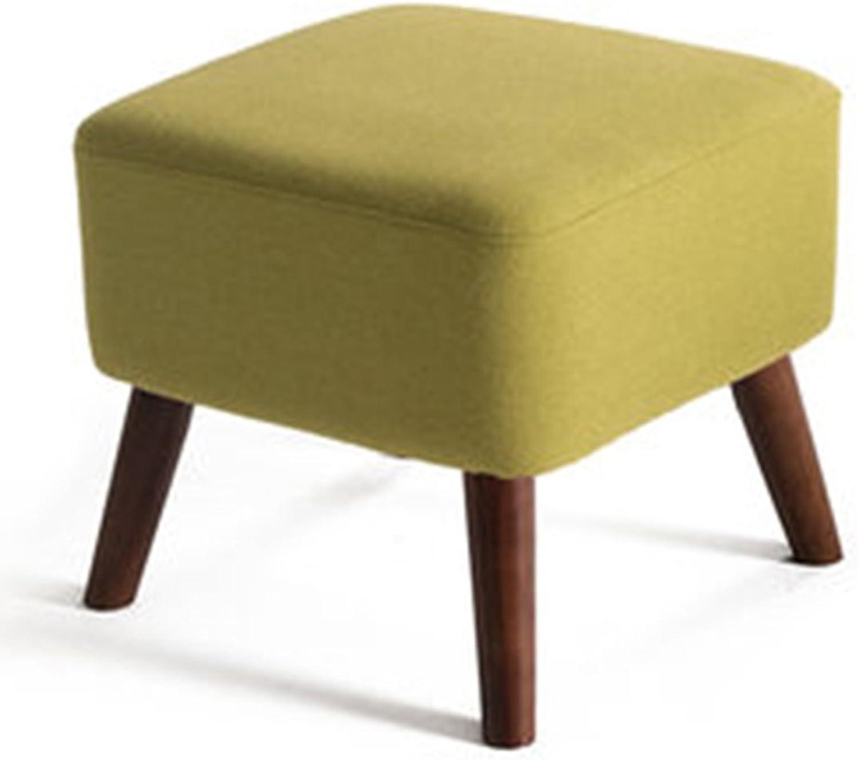 Stools Living Room Solid Wood Sofa Stool Family Footstool Bedroom Stool 40  40  40cm