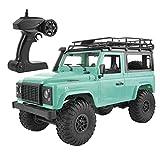 Coche Teledirigido 4Wd 2.4G Eléctrico Coche RC Coches Todoterreno Camión Control Remoto Monster Truck Vehículo de Juguete Regalo para Adultos y Niños(Verde Metal)
