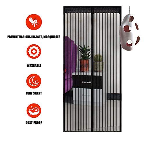 LXXTI hordeur, magnetisch, vliegenbescherming, eenvoudig te installeren zonder boren, voor hal, deuren, patio