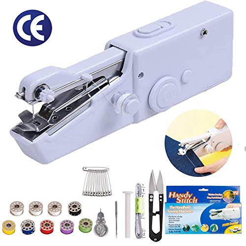 Handheld Sewing Machine Portable Electric Cordless Sewing Machine - Easy to Carry Can be Quickly and Conveniently Repaired Indoors or on The Go