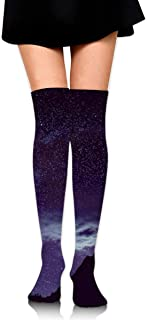 Starry Night And Mountain Women's Over Knee Thigh Socks Girl High Boot Stockings Leg Warmer