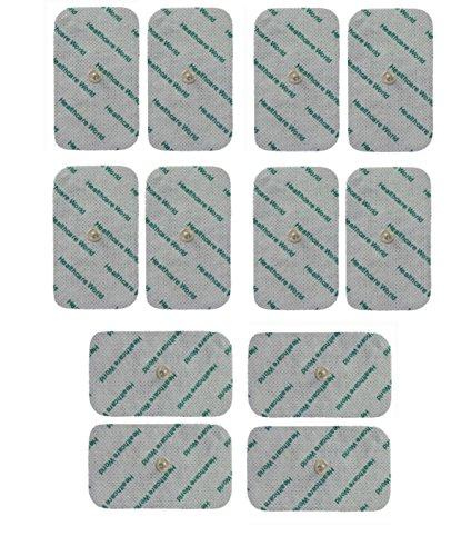 Electrodos Para TENS EMS Electroterapia Grande TENS Electrodos x 12 Para Beurer Sanitas EM40 EM41 EM80