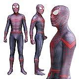 HAOWUTX Red Spiderman Disfraces Cosplay Medias Adultos niños superhéroe Traje Lycra Halloween Carnaval Masquerade (Color : Jumpsuit, Talla : 125-135cm)
