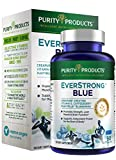 EverStrong Blue by Purity Products - Strength Building + Brain Boosting w/Muscle Matrix Blend ft. Creapure Creatine Monohydrate + More, Wild Organic Blueberry Complex, 1000 IU Vitamin D3-90 Tablets