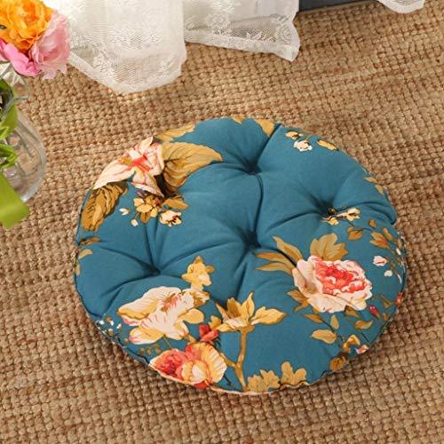 HEWEI rond kussen van katoen voor stoelen, rotan, kussen voor landhuisstoelen, kleine ronde parels, van katoen, koel, pareleffect, machinewasbaar 40 x 40 cm, H