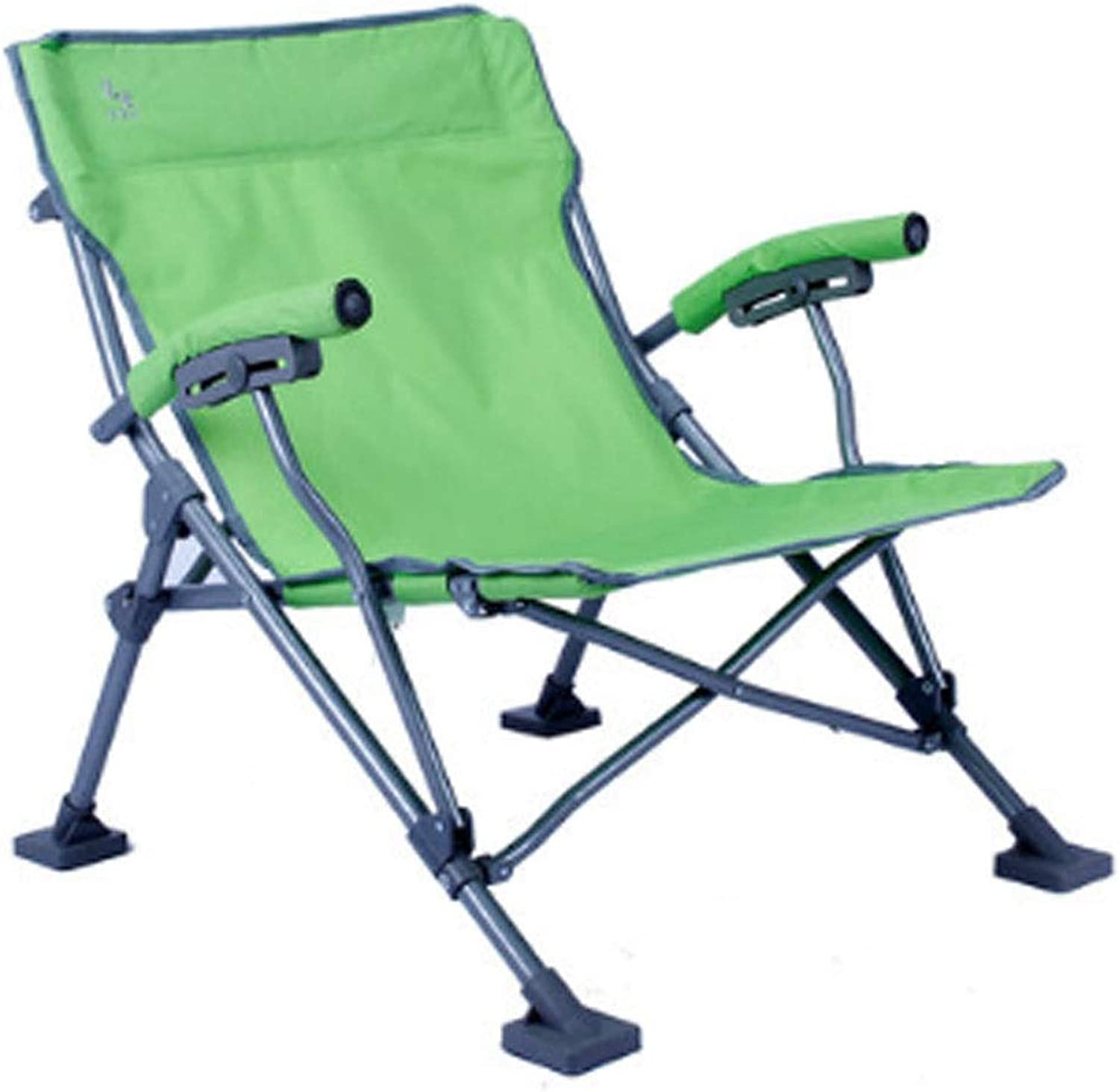 Folding Recliner American Indoor Folding Chair Outdoor Folding Recliner Portable Leisure Chair Beach Sun Folding Chair Outdoor Camping Recliner (color   Green, Size   69X55CM)