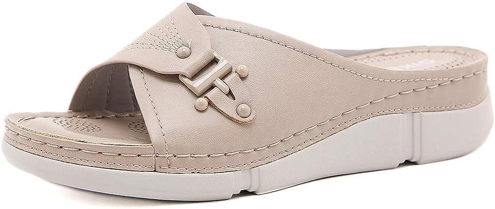 ZAPZEAL Women Slide Sandals Flat Slippers Slip H Open On ランキングTOP10 Toe Low 完全送料無料