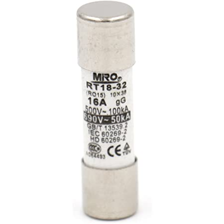 RT18 RT14 R015 10x38mm Ceramic Fuse Links 500V 16A 5 Pcs