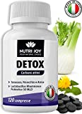 Detox Carbone Attivo [ 120 COMPRESSE ] Drenante Forte Dimagrante Carbone Vegetale | Dimagrire...