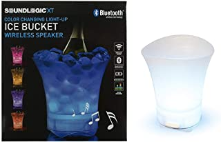 Ice Bucket Alcohol Box Tub Wine Chiller Mixed Drinks Bowl Pitcher Flower Vase Paint Bin Wireless Bluetooth Waterproof Speaker Party Supplies Multi Colored Color Changing Large Clear (1 Unit)