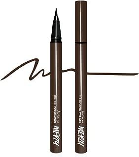 Merzy Brush tip Pen Eyeliner w/Long-Lasting 12HR Waterproof tattoo ink (BROWNIE)