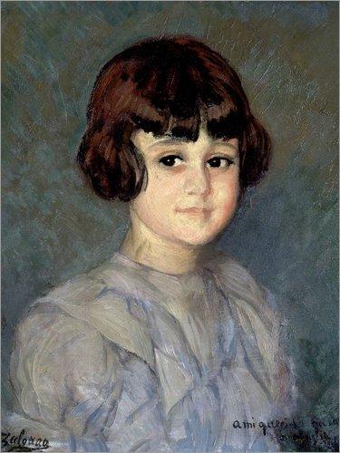 Lienzo 30 x 40 cm: Portrait of His Niece de Ignacio Zuloaga Zabaleta/akg-Images - Cuadro Terminado, Cuadro sobre Bastidor, lámina terminada sobre Lienzo auténtico, impresión en Lienzo