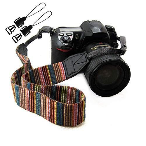 Eorefo Kameragurt Vintage Böhmen Kamera Schultergurt HalsTragegurt für DSLR Kamera,Mehrfarbig.
