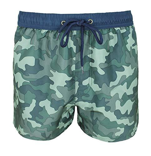 Evoga Badehose für Herren, Militär, Camouflage, Boxershorts, Bermuda, Meer X-Large