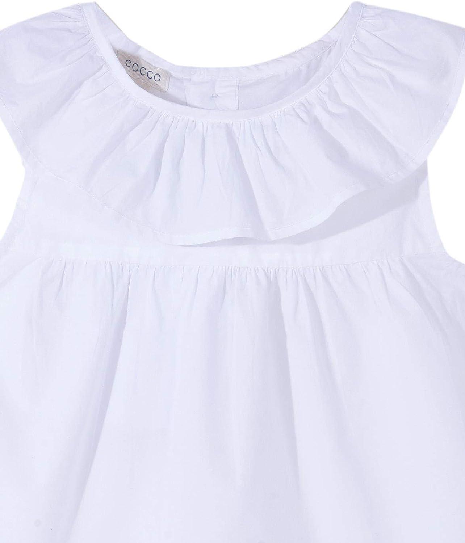 Gocco Blusa Cuello Volante Camisa para Niñas: Amazon.es: Ropa