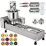 VBENLEM 110V Commercial Automatic Making Machine, Single Row Auto Doughnut Maker 7L Hopper, Donuts Fryer with...