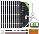 ECO-WORTHY 1400W 24V Wind Solar Power Kit: 400W Wind Turbine Generator 3 Blade with Controller +...
