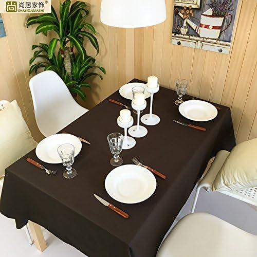 WERLM Restaurant Simple Couleur uni Marron Nappe cirée Nappe rectangulaire, 90  140cm