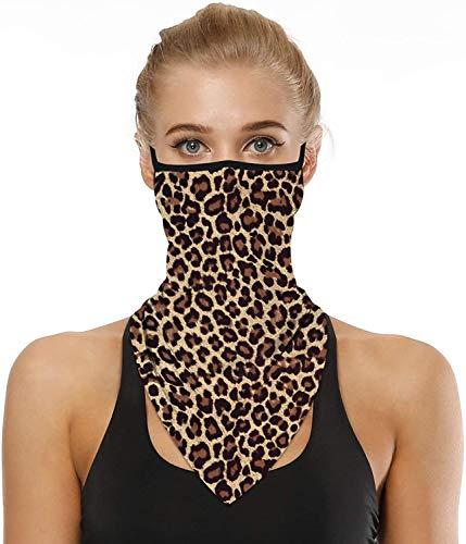 CGBOOM Bandana para mujeres y hombres para la cara, máscara de ciclismo, protección UV, bucles para las orejas, pasamontañas, lavable, antiviento, para motocicleta, unisex